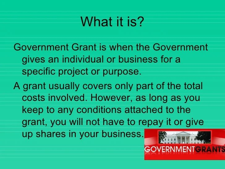 Government Grants Powerpoint