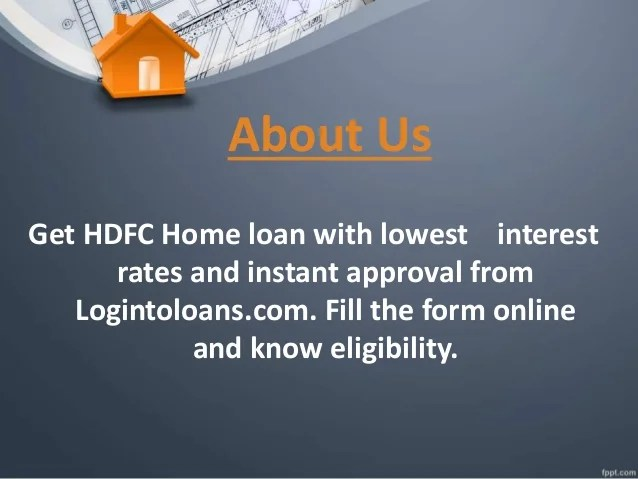 Hdfc bank home loan, apply for hdfc bank home loan in india logint…
