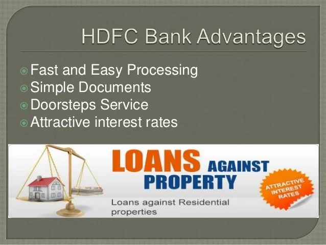 Hdfc loan against property
