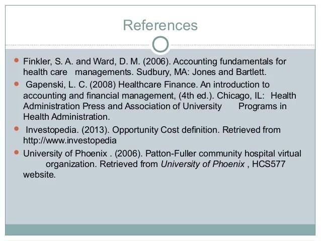 Health care business analysis