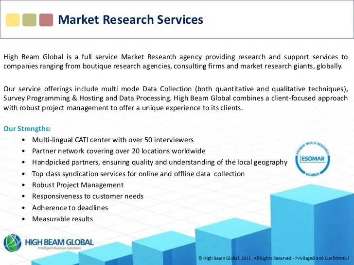 High Beam Global Market Research Services 2011