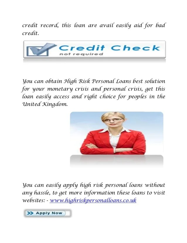 High risk personal loans solution with 100% approval!