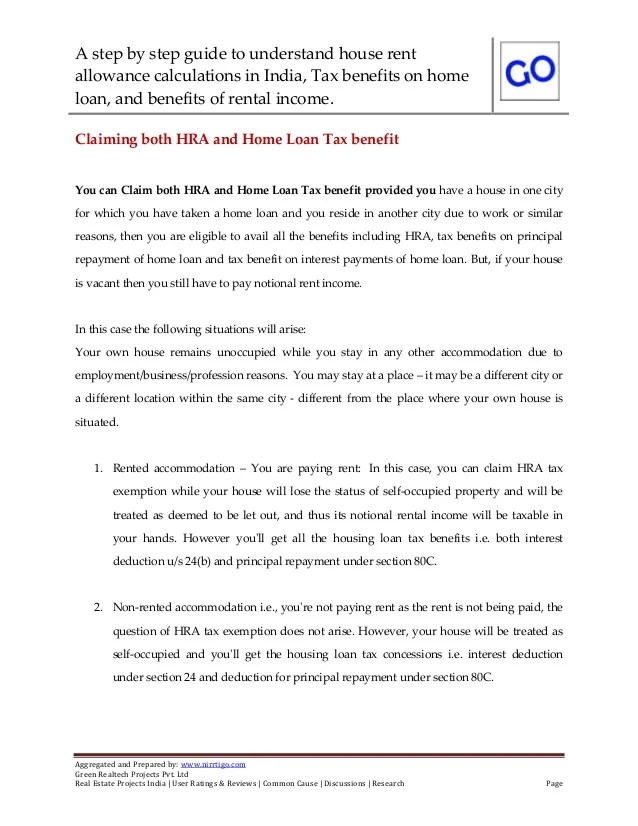 House rent allowance calculations and how to calculate tax benefits o…