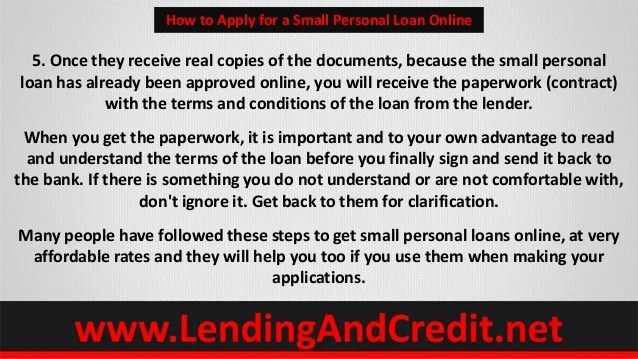 How to Apply for a Small Personal Loan Online Using 5 Tips