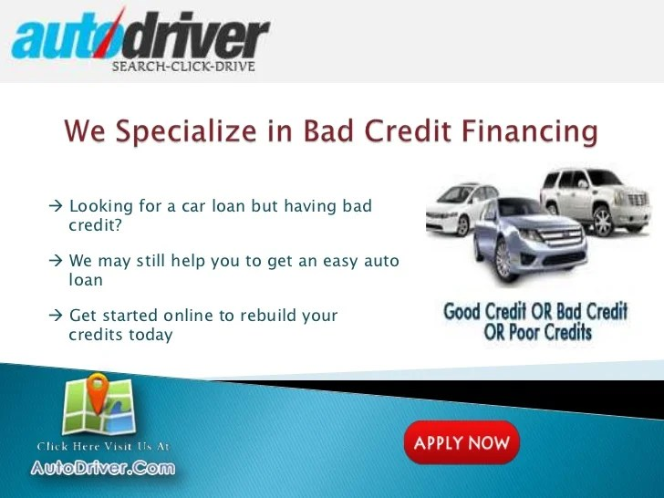 How To Get Car Loans With Bad Credit - Make Auto Loan Financing Easy