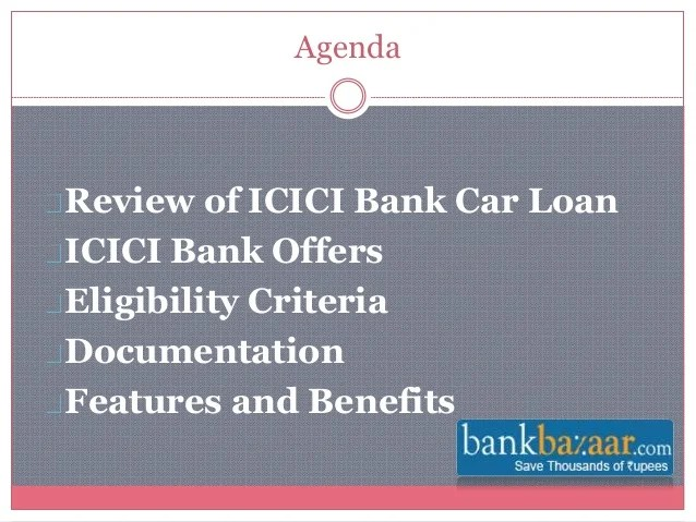 ICICI Bank Car Loan Offers