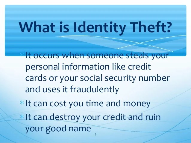 Identity Theft for College Students