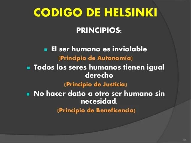 Informe de Belmont y Declaracion de Helsinki