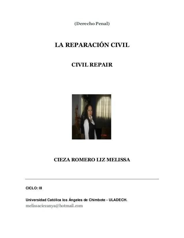 LA REPARACIÓN CIVIL