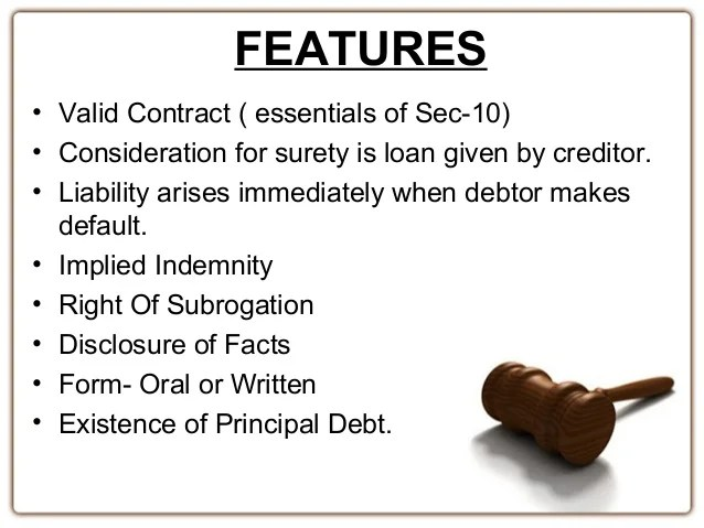 Law of indemnity guarantee