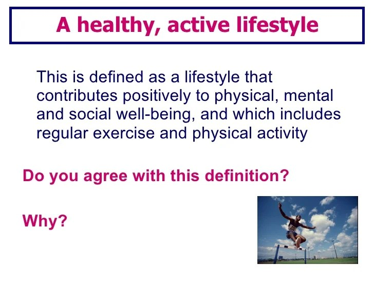 Lesson 1healthy active lifestyle