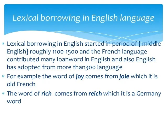 loanword - définition - What is