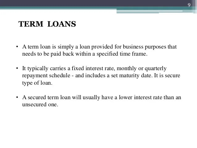 Loans and types