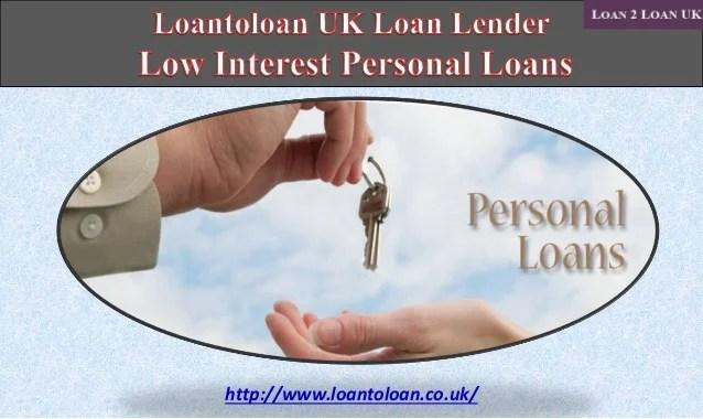 Loantoloan UK Loan Lender Low Interest Personal Loans