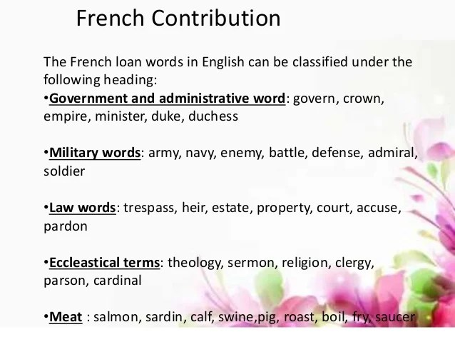 Loan Words in English