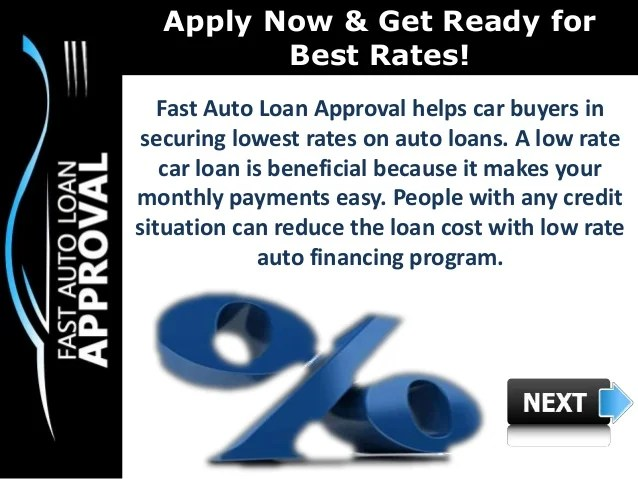 Low Interest Rate Car Loans : How can Fast Auto Loan Approval help Pe…