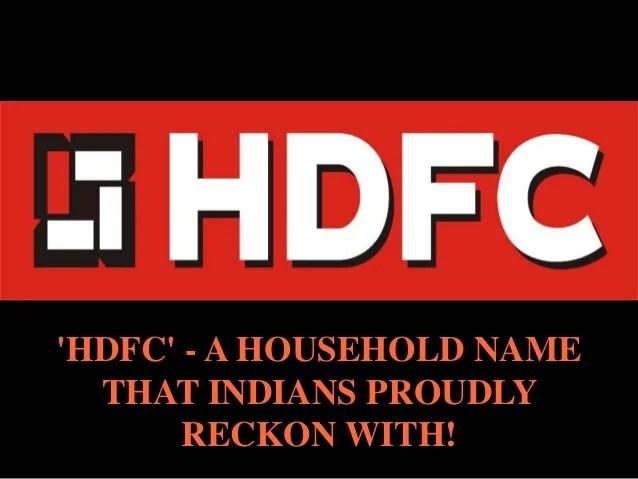 Hdfc Housing Development Finance Corporation Limited | Autos Post