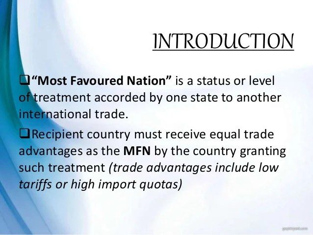 Most favoured nations