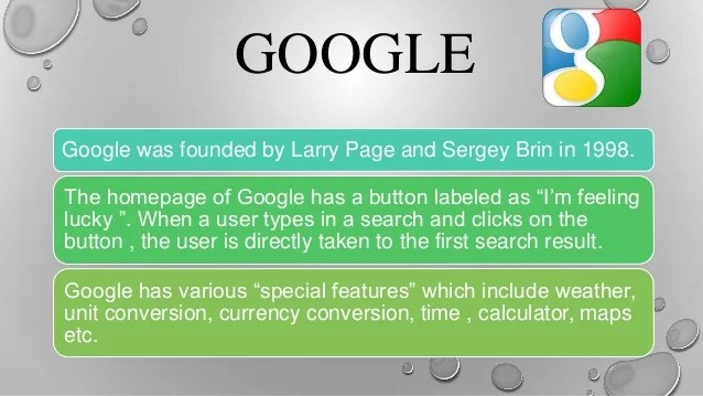 Search engines and its types