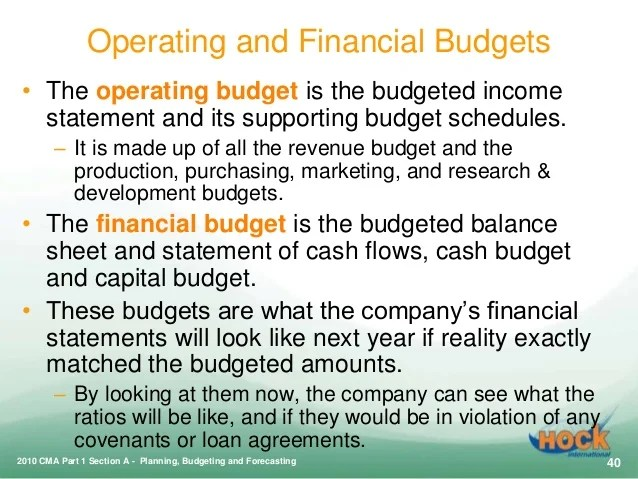 CMA Part 1: Planning, Budgeting and Forecasting
