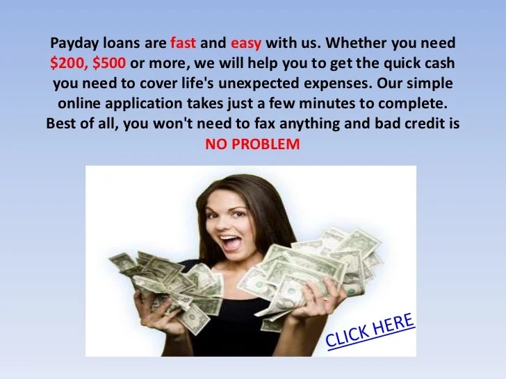 New payday lenders no credit check