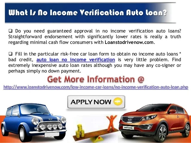Get Auto Loans without Income Verification