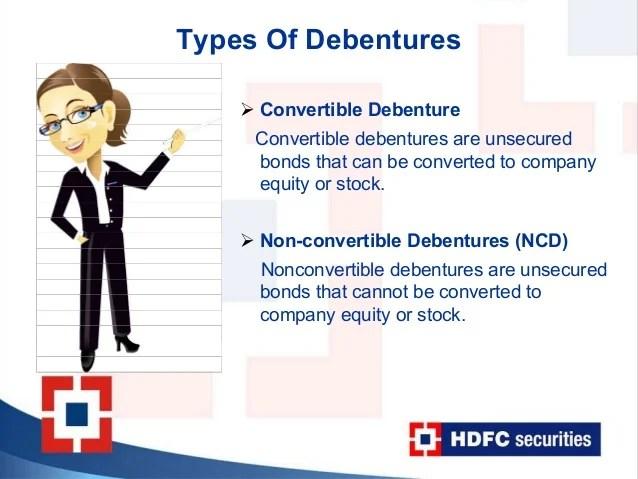 Non convertible debentures