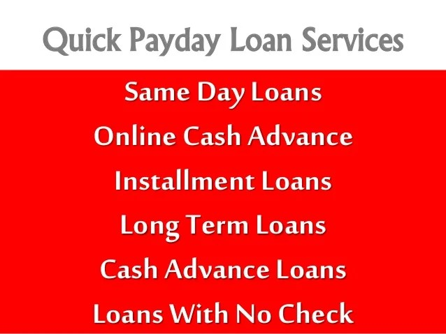 Payday Loans Online With Same Day Application Approval - Apply Today