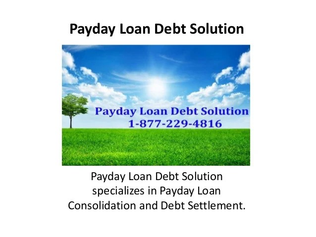 Payday loan assistance