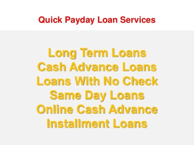 Payday Loans Long Term For Low Credit People In Canada