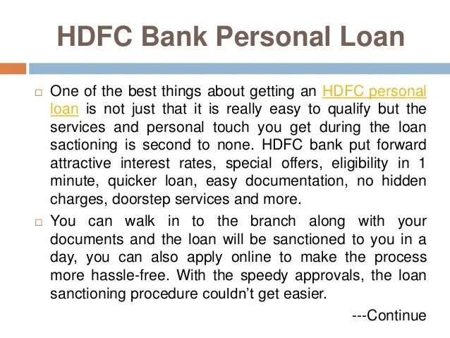 Which Bank Personal Loan Would You Prefer: SBI or HDFC?