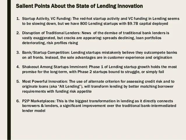 The Transformation Underway in FinTech Lending