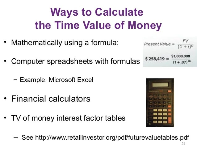 Tvm Factor Table Calculator | Awesome Home