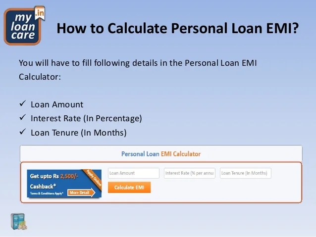 How to Use MyLoanCare Personal Loan EMI Calculator