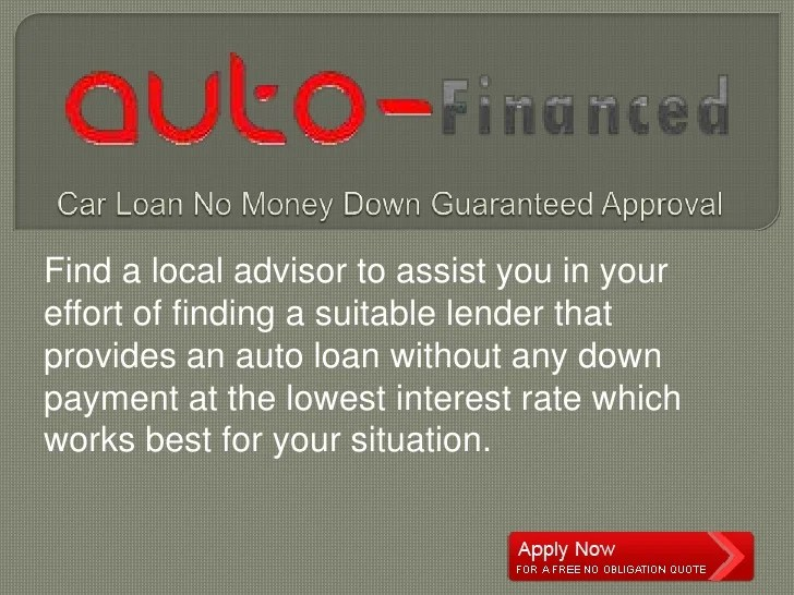 Buying A Car With Bad Credit And No Money Down