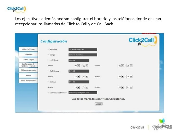 Presentación click2 call the best personal attention module to increa…