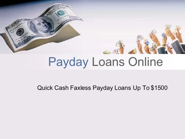Payday Loans Online Up To $1500