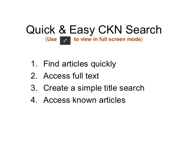 Quick and easy search