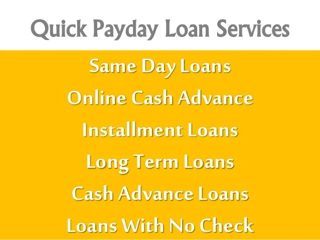 Same Day Payday Loans With No Credit Check Option Online! Apply Today