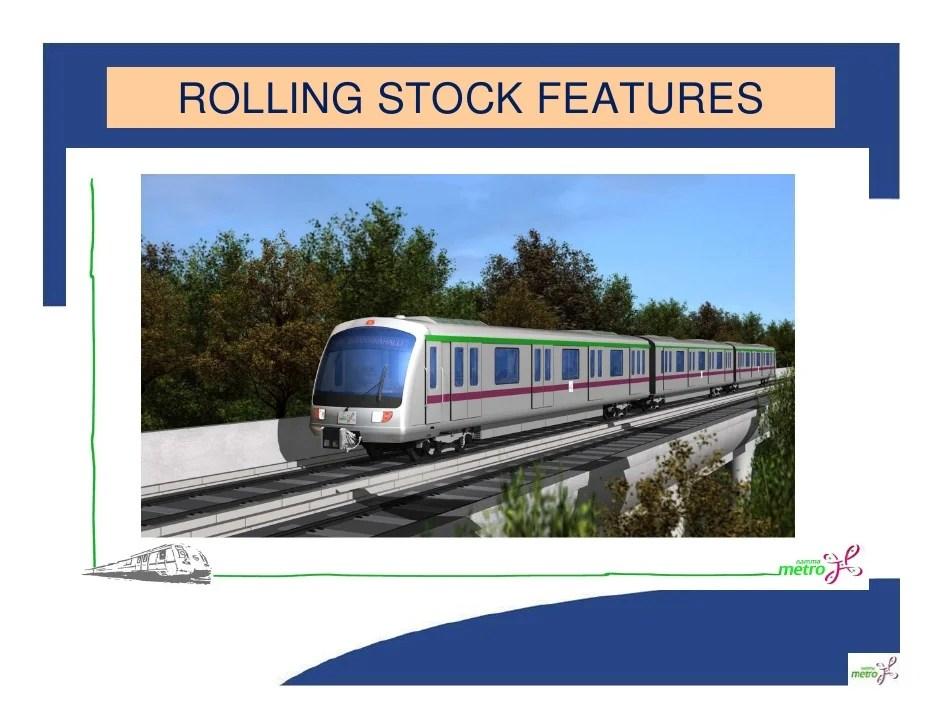bangalore metro rolling stock