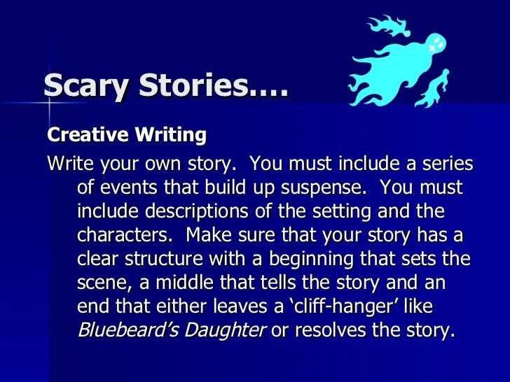 How to write a scary story powerpoint