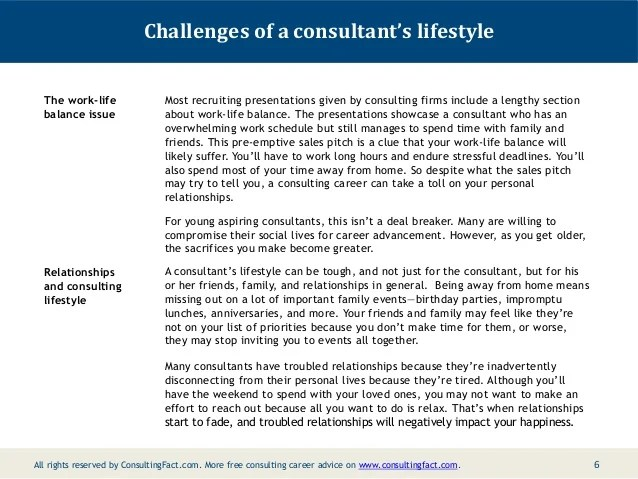 Social life and lifestyle of management consultants