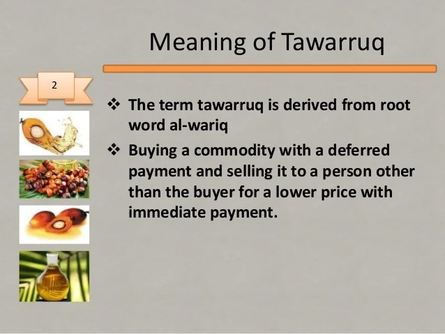 Tawarruq using Bursa Suq Al sila'