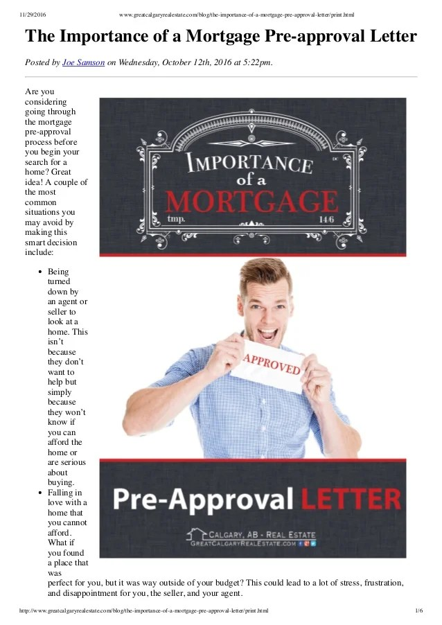 Benefits of a Mortgage Pre-approval Letter