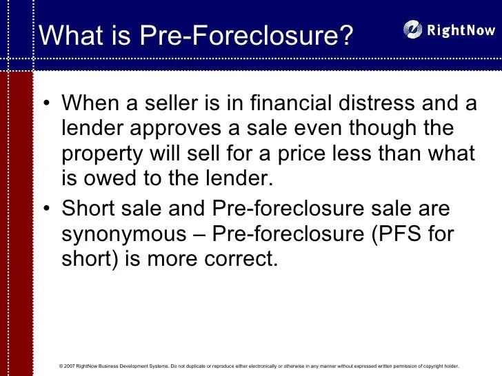 The Pre Foreclosure Niche Presentation For Real Estate Agent