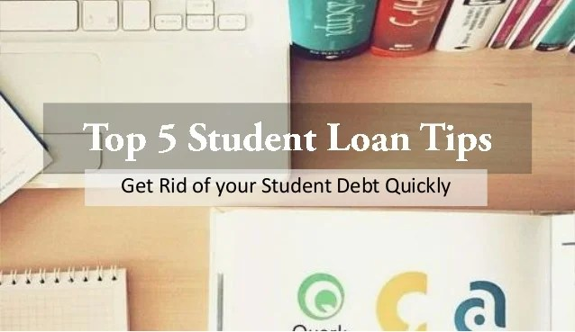 Top 5 student loan tips