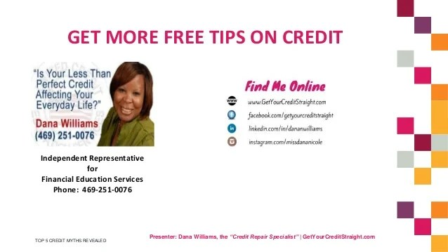 Top 5 Credit Myths - Learn the Secrets the Credit Bureaus Don't Want
