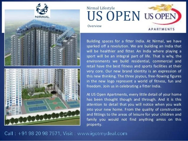 Nirmal Lifestyle US Open at L.B.S Marg, Mulund West, Mumbai