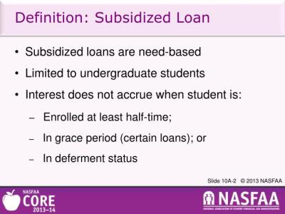 PPT - Federal Direct Loans: Reviewing Program Requirements and Calculating Loan Amounts ...