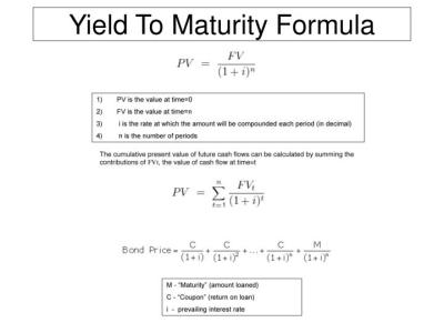 PPT - Yield To Maturity Formula PowerPoint Presentation - ID:2938012